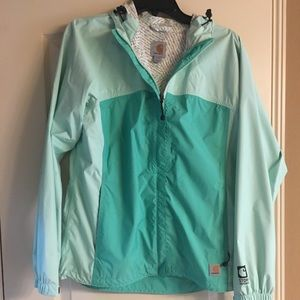Light Turquoise Rain Jacket